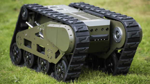 A bomb Disposal military UGV operated by powerful Large Li-Ion Battery Bank