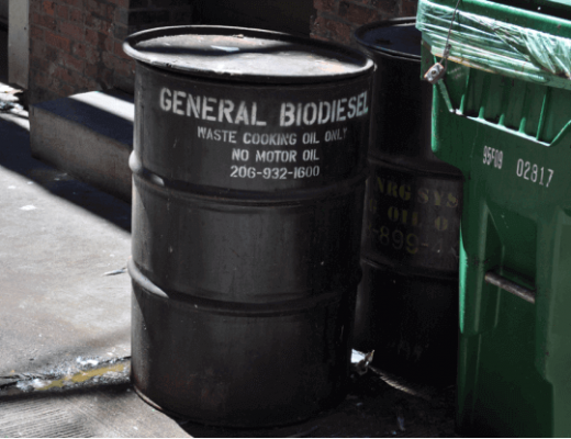 recycling used oil