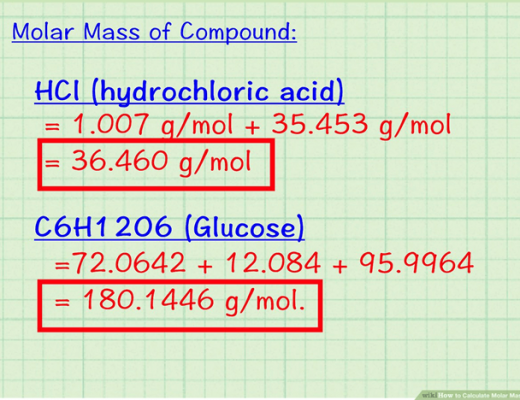 3. calculate Molecular weight (1)