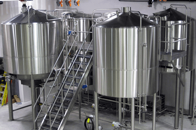 Equipment In A Brewery